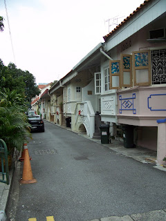 Conserved Terrace Houses along 150 East Coast Road