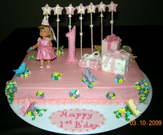 Harshi S Cakes Amp Bakes First Birthday Doll Cake