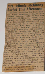 Minnie's obituary