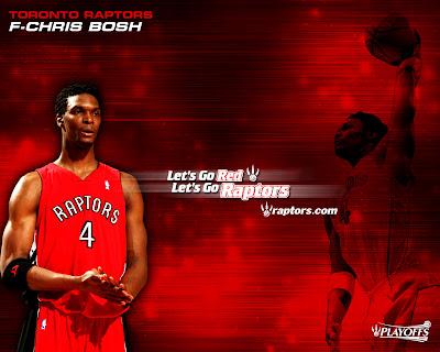 Chris Bosh And Toronto Raptors NBA Wallpaper