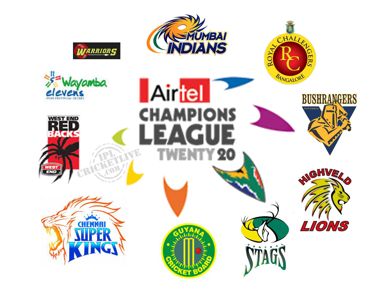 New S World Airtel Champion League T20 2010 Schedule