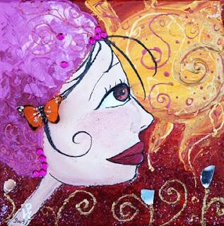 Peinture de la fille de la lune ou du soleil