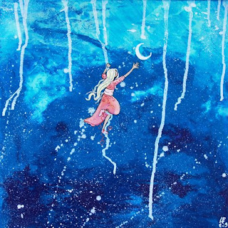 décrocher la lune illustration peinture illustratrice laure phelipon