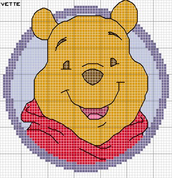 10 schemi a punto croce winnie the pooh arte del ricamo for Ricamo punto croce bambini
