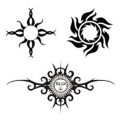 tatouage soleil et dessin tribal tatouage soleil. Black Bedroom Furniture Sets. Home Design Ideas