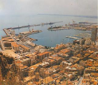 Der Hafen von Alicante um 1975