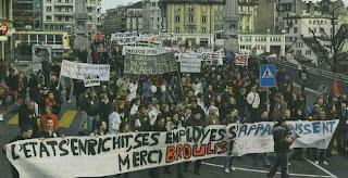 manifestation à Lausanne le 31.01.2008
