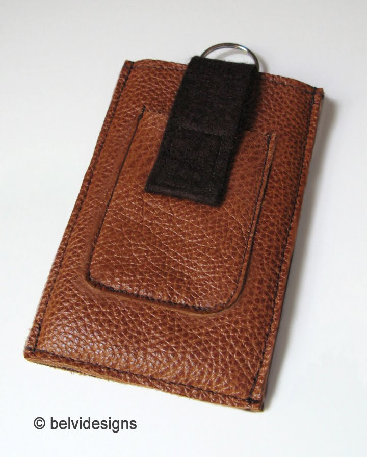 759439634dc4 There is a small outside pocket for storing ear buds. The closure flap is  made of a dark-brown wool felt.