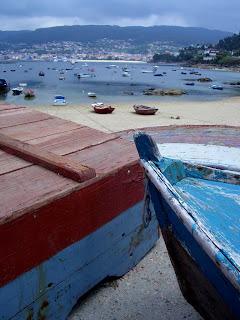 Barcas na Praia de Beluso