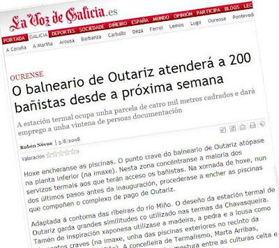 O balneario de Outariz atenderá a 200 bañistas desde a próxima semana