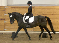 Elysha Bacca, Placing 4th at the National Dressage Equitation Championships held in California.