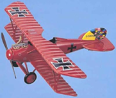 wtmblog: F-Toys Bi-Plane Collection - Red Baron Albatros D.III  Red Baron Biplane
