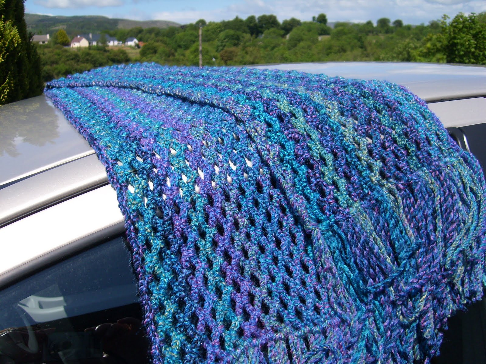 Pie in the Sky Crochet: Easy chain lace scarf