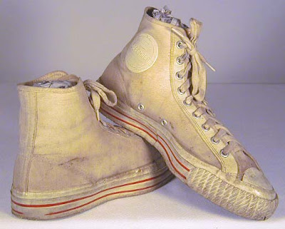"""1940's High Top Basketball Shoes, canvas  """"DEFENDER """" model shoes, EX."""