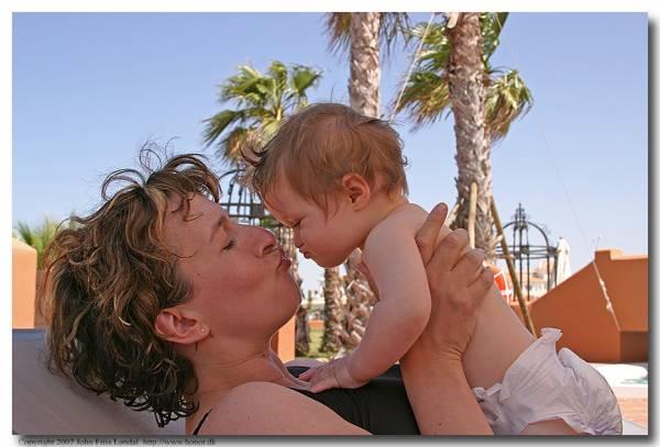 Min bror Johns hustru geolog Eva-Lotte og deres pragtfulde datter Simone født 2006