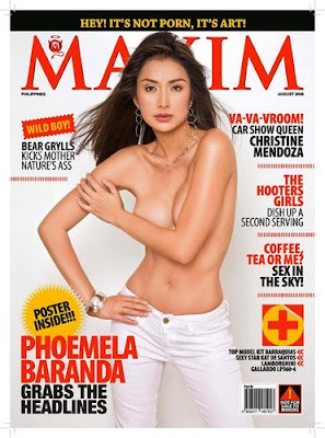 Phoemela Baranda is Maxim Philippines CoverGirl August 2008