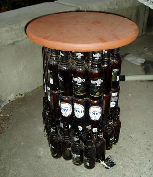 Criatividade com garrafas