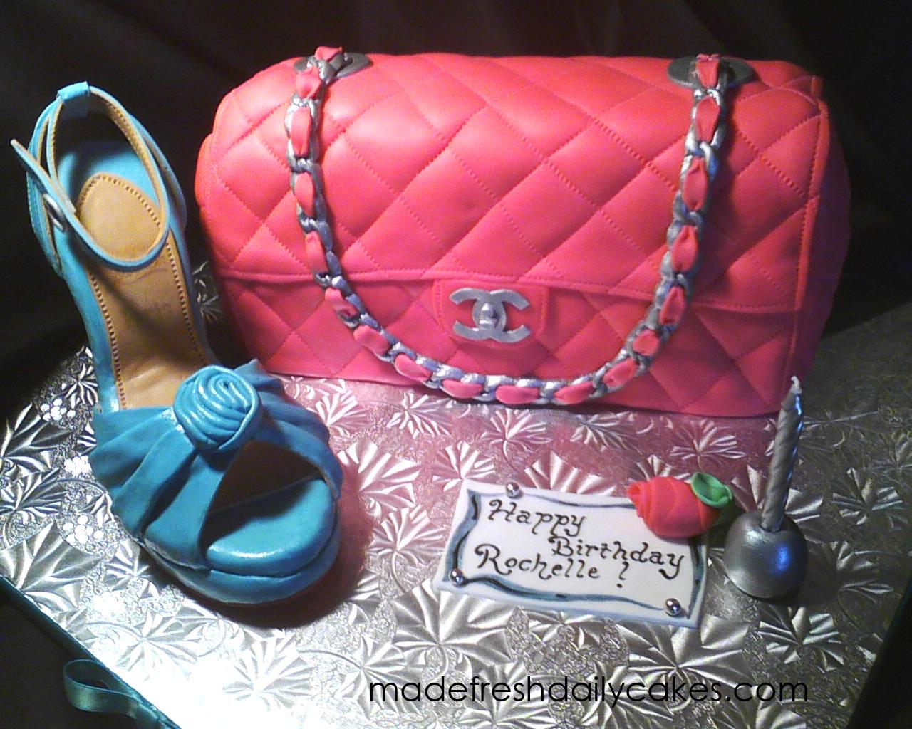 f3cf453735d1 made FRESH daily  Pink Chanel Handbag Cake!