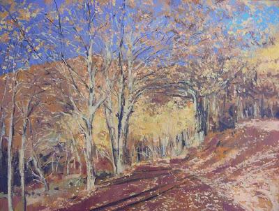 Tarde de otoño, oleo sobre lienzo