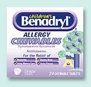 can you chew benadryl tablets