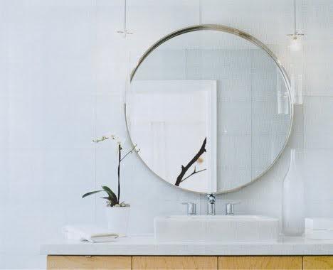Round Bathroom Mirror With Shelves