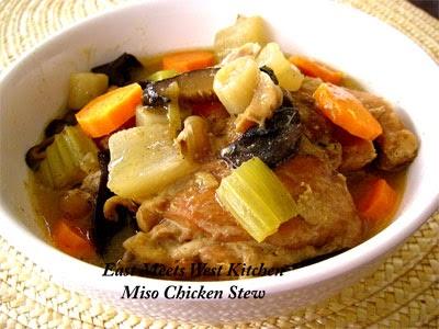 East Meets West Kitchen Miso Chicken Stew