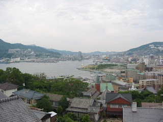 Overview of Nagasaki harbour and the marina