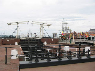 Locks with ship in the background