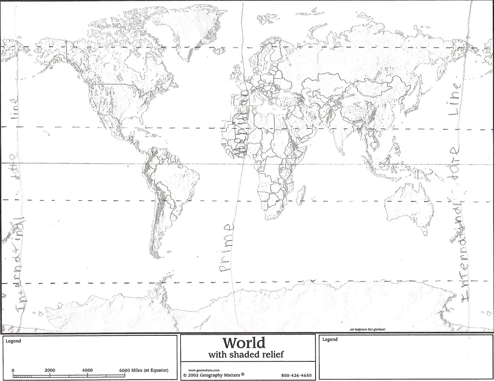 Blank World Map With Equator And Tropics Gallery