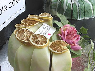 coconut lime verbena soap cake
