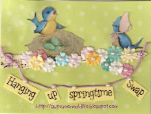 I've joined the Hanging up Springtime Swap!