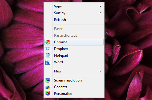 Custom Desktop Right-Click Menu