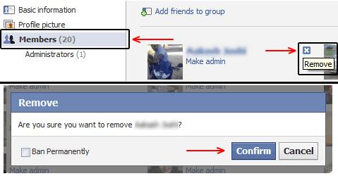 Facebook Group Member Delete