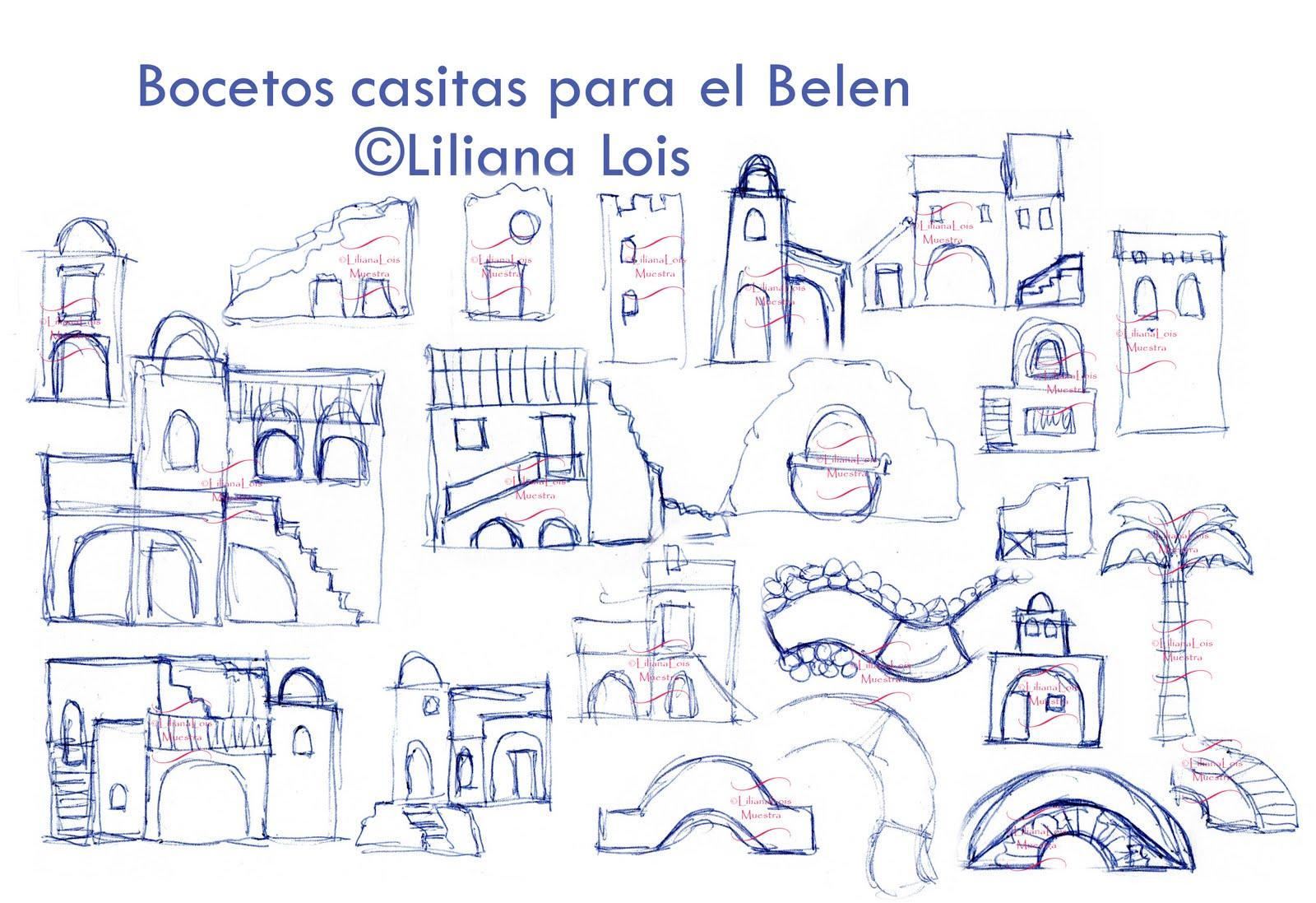 Casas De Belen Para Colorear   Bernadettes