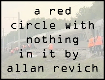 a red  circle with nothing in it (russian death train) by allan revich