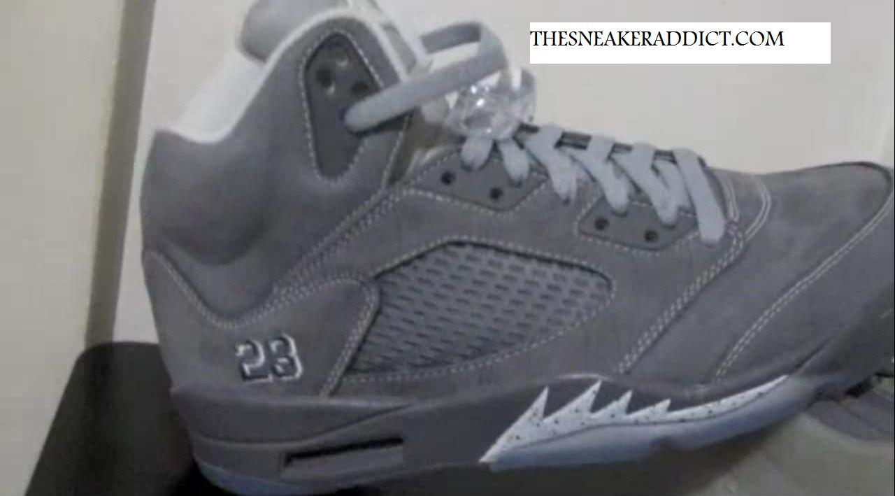 outlet store dacf4 90b14 THE SNEAKER ADDICT: 2011 Air Jordan 5 V Cool Grey / Wolf Grey