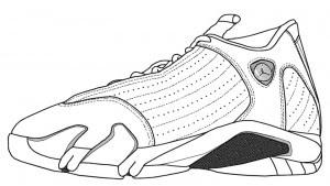 Jordan Shoes Coloring Pages