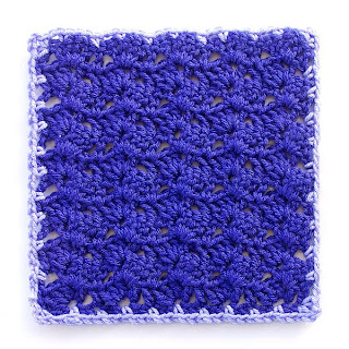Variations on a Theme Mystery Crochet Along Block 5 with 1st round of edging