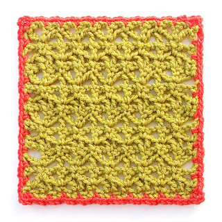 Variations on a Theme Mystery Crochet Along Square #4 with row 1 of edging