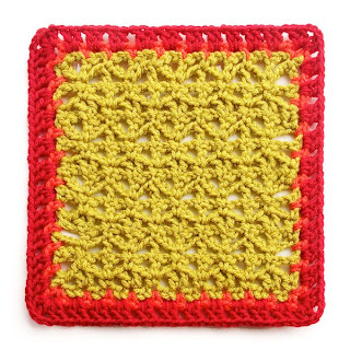 Variations on a Theme Mystery Crochet Along Square #4 with row 2 of edging