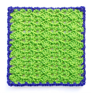 Variations on a Theme Square #3 Mystery Crochet Along row 1 of edging