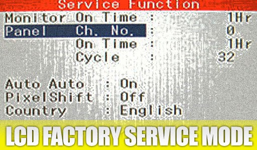 Factory Service Mode for LCD monitor | PC Mediks