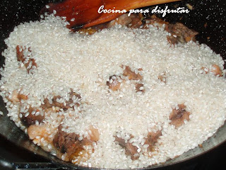 receta ARROZ CON CONEJO Y SETAS (BOLETS)