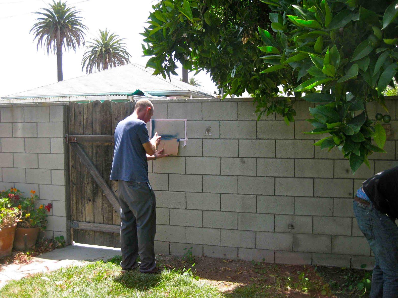 a lovely little life: June 2010 on Backyard Cinder Block Wall Ideas  id=19575