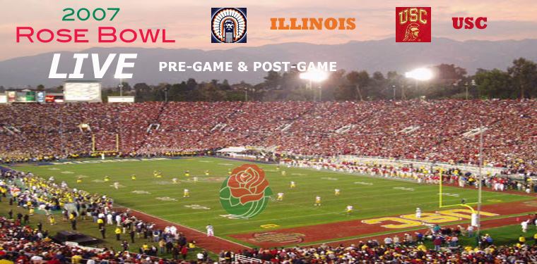 2008 Rose Bowl pre-game [ LIVE ]