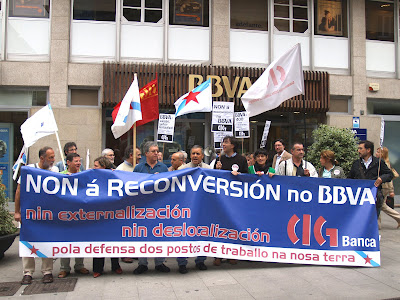Concentranción de delegados e delegadas da CIG en Lugo