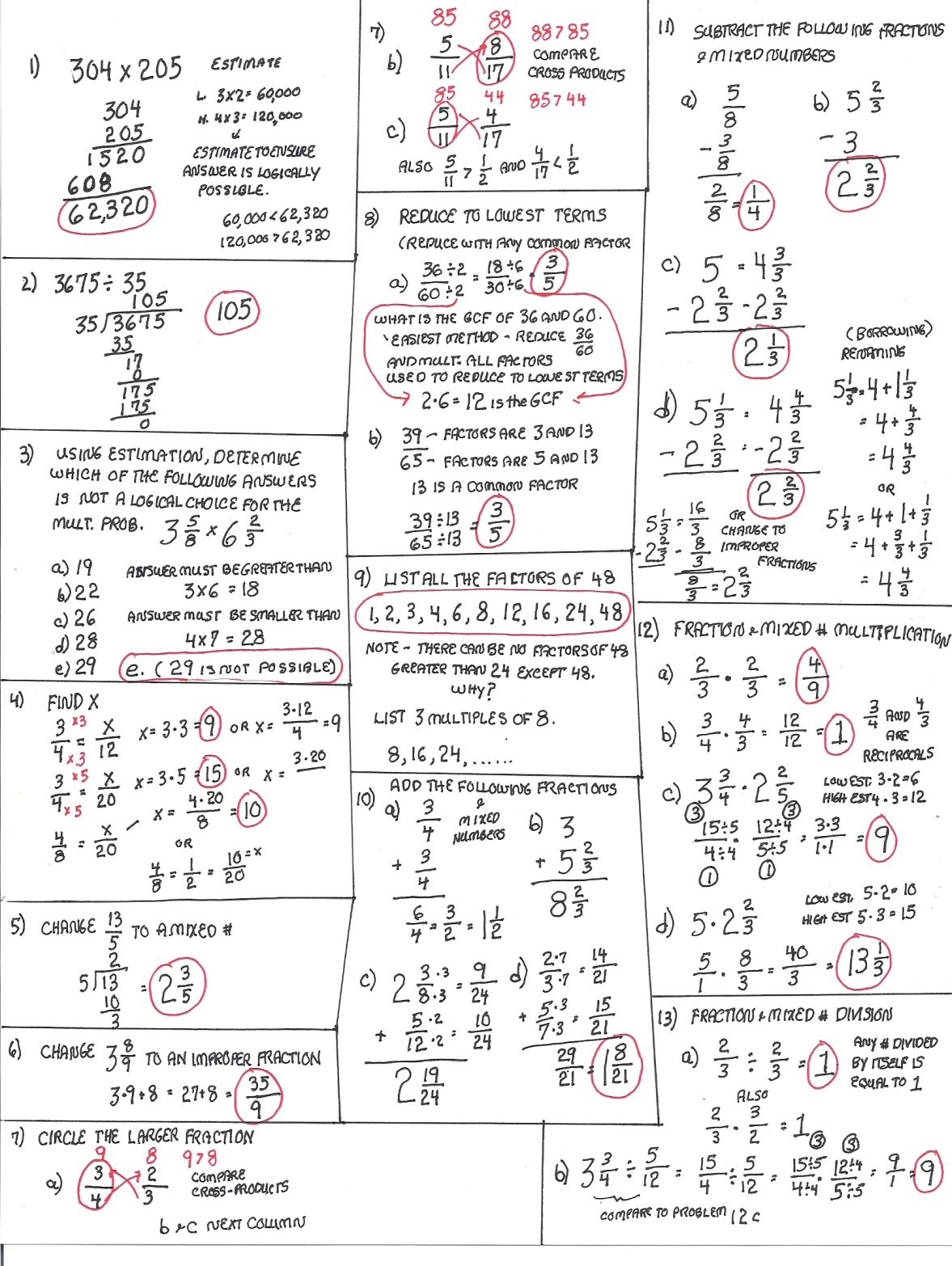 Cobb Adult Ed Math: TABE review problems and solutions