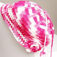 Ebruli ipten şapka yapımı