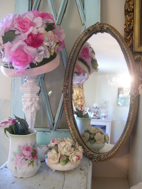 ~Romantic Antique Barbola Mirror~