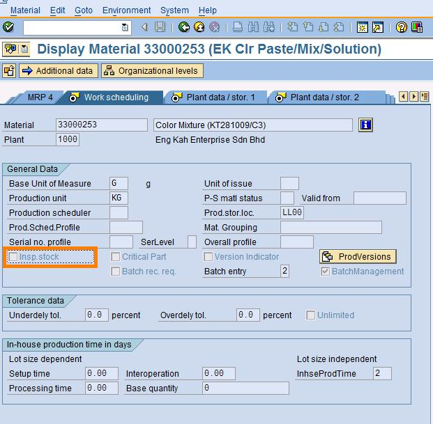 SAP Treasure Box: Post Material To Inspection Stock
